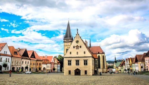 village square in poland