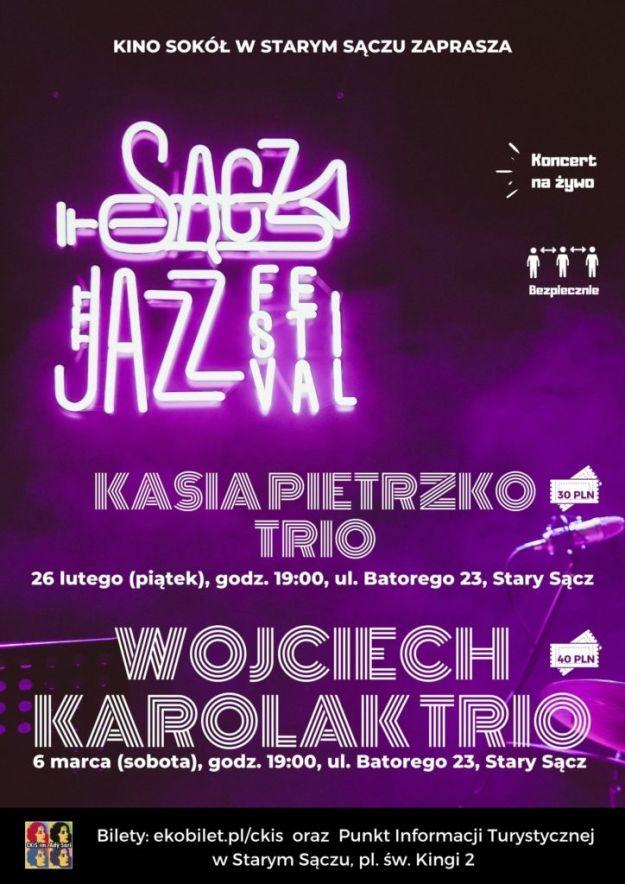 Plakat Kasia Pietrzko Trio Wojciech Karolak Trio